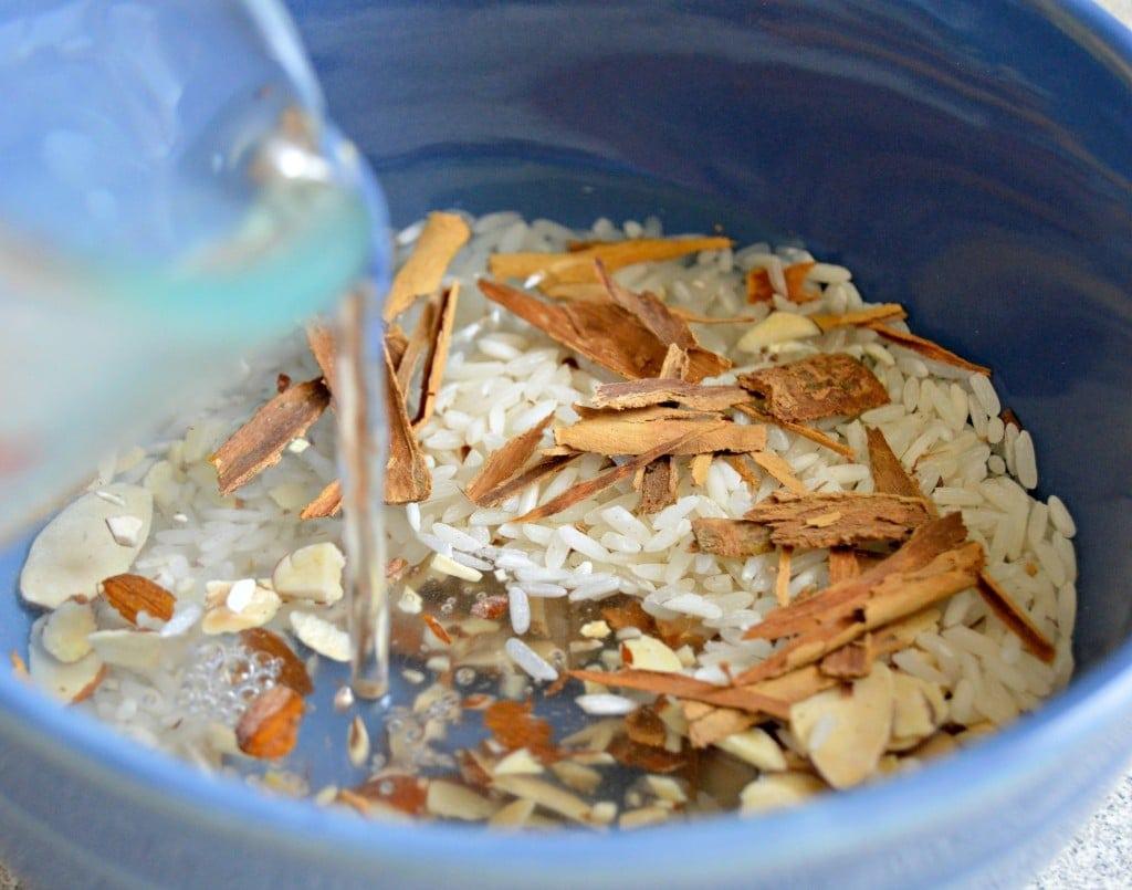 Authentic horchata recipe - let the rice soak