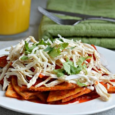 Red Chilaquiles with Chicken Recipe
