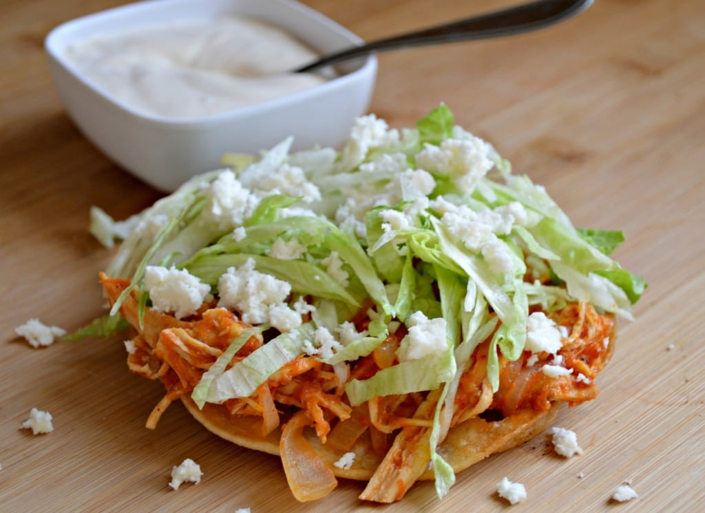 Chicken Tinga Tostadas Recipe — Dishmaps