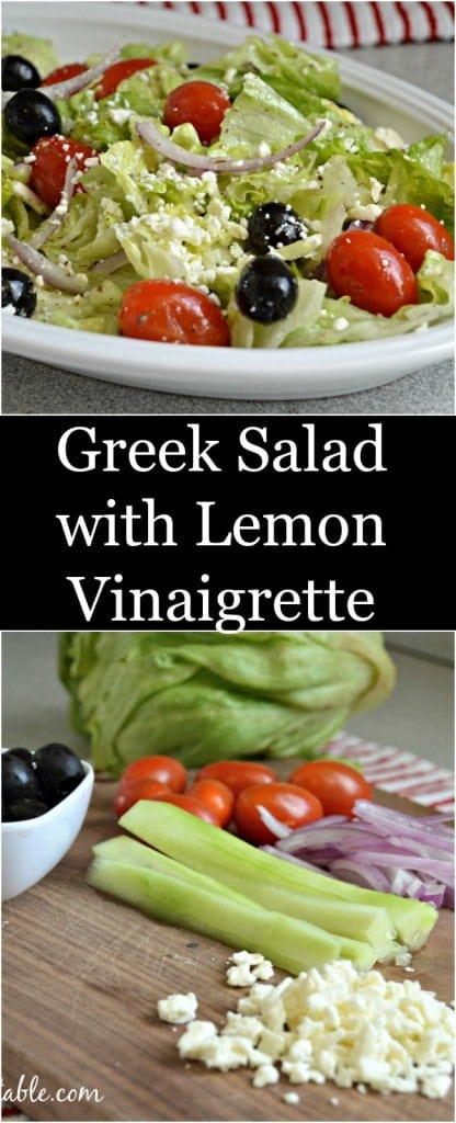 If you are looking for a fresh, healthy salad you are not going to want to miss this Greek salad.