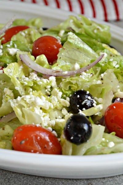Greek Salad with Lemon Vinaigrette