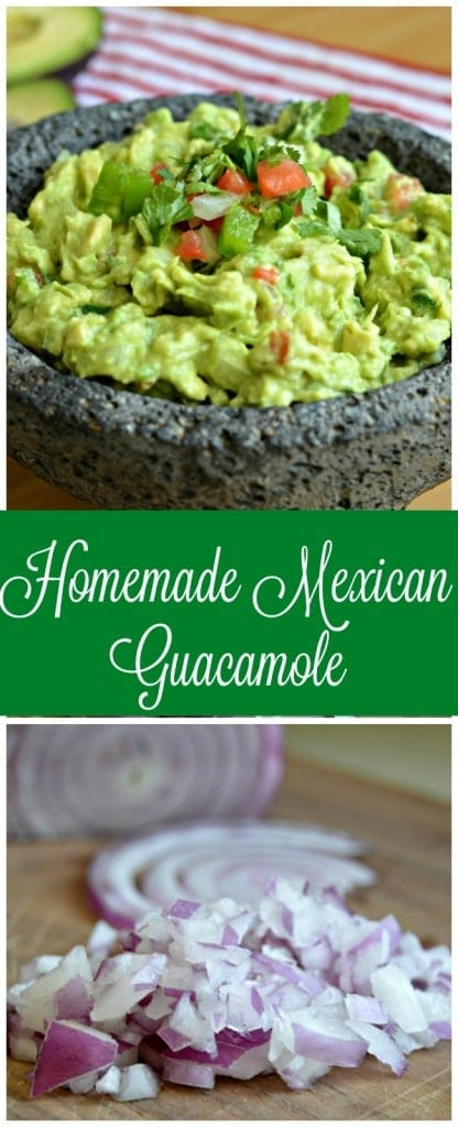 This homemade Mexican Guacamole is easy to make and goes perfect as an appetizer or side dish.