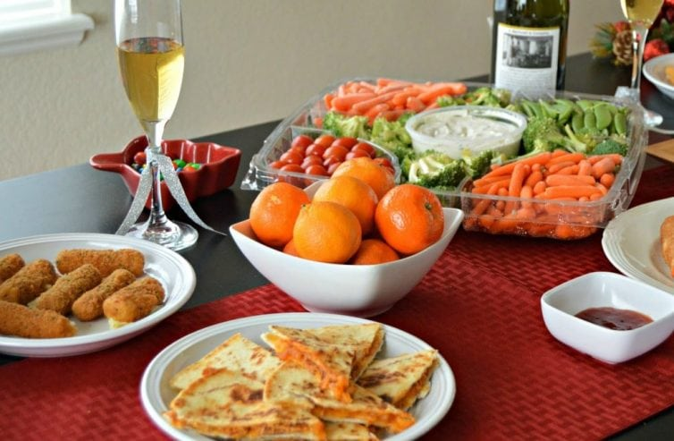 New Year Food and Drinks