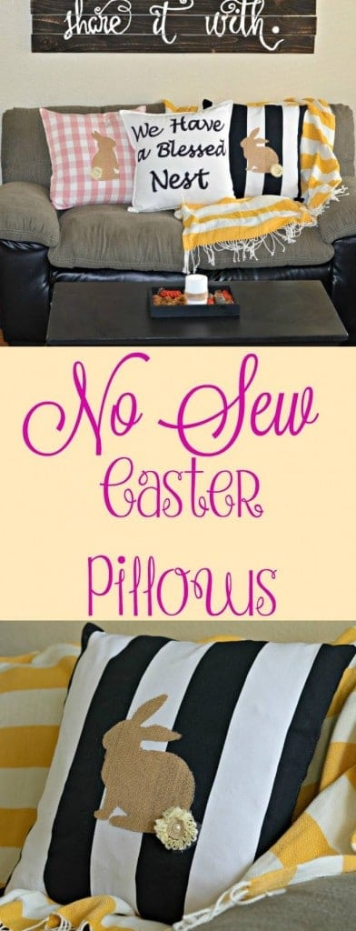 These no sew Easter pillows are so easy and they are perfect for decorating your house for Easter this year.