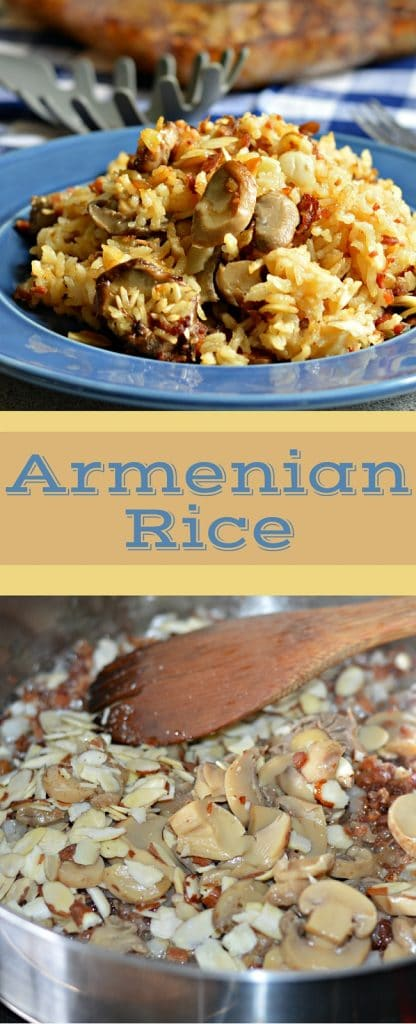 Even if you do not like rice, you will love this recipe! It has bacon, almonds, rice, sauteed onions, and the flavors go perfectly together!