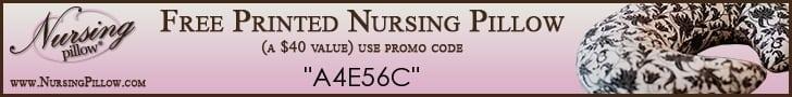 Free Nursing Pillow - just pay shipping