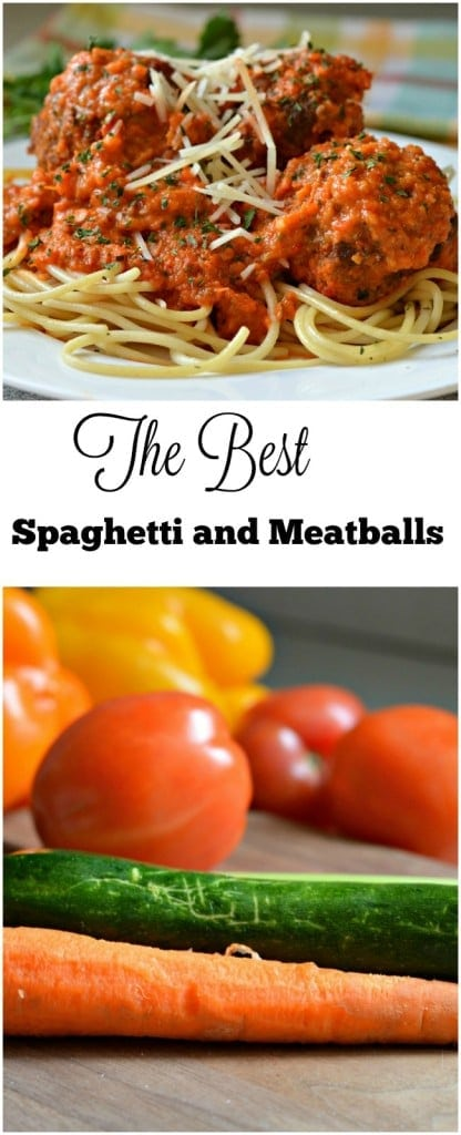 This Spaghetti and Meatballs recipe is packed with fresh vegetables that your kids won't even know are there, but I promise that they will love it!