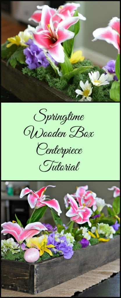 You can make this wooden box centerpiece in a couple of hours and it can be used and reused year-round by changing what is inside!