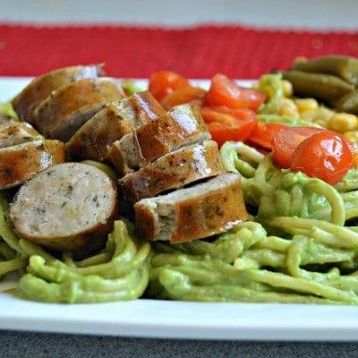 Creamy Avocado-Basil Pasta