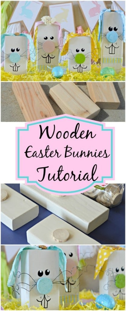 If you are still looking for some easy decoration ideas for Easter, check out this DIY Wooden Easter Bunnies Tutorial! They are easy to make and do not cost a lot of money.
