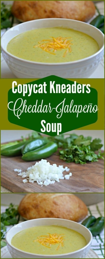 This Cheddar Jalapeño Soup is delicious, creamy, and not spicy at all! It is perfect so serve with freshly baked bread.