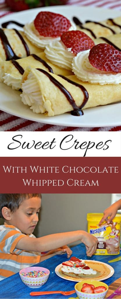 These sweet crepes are delicious and easy to make for breakfast. The great part? Your kids will love choosing their own fillings and eating these right alongside you!