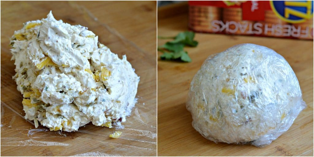 Bacon Jalapeno Cheese ball forming