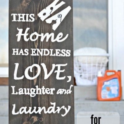 DIY Wooden Sign for Laundry Room (Tutorial)