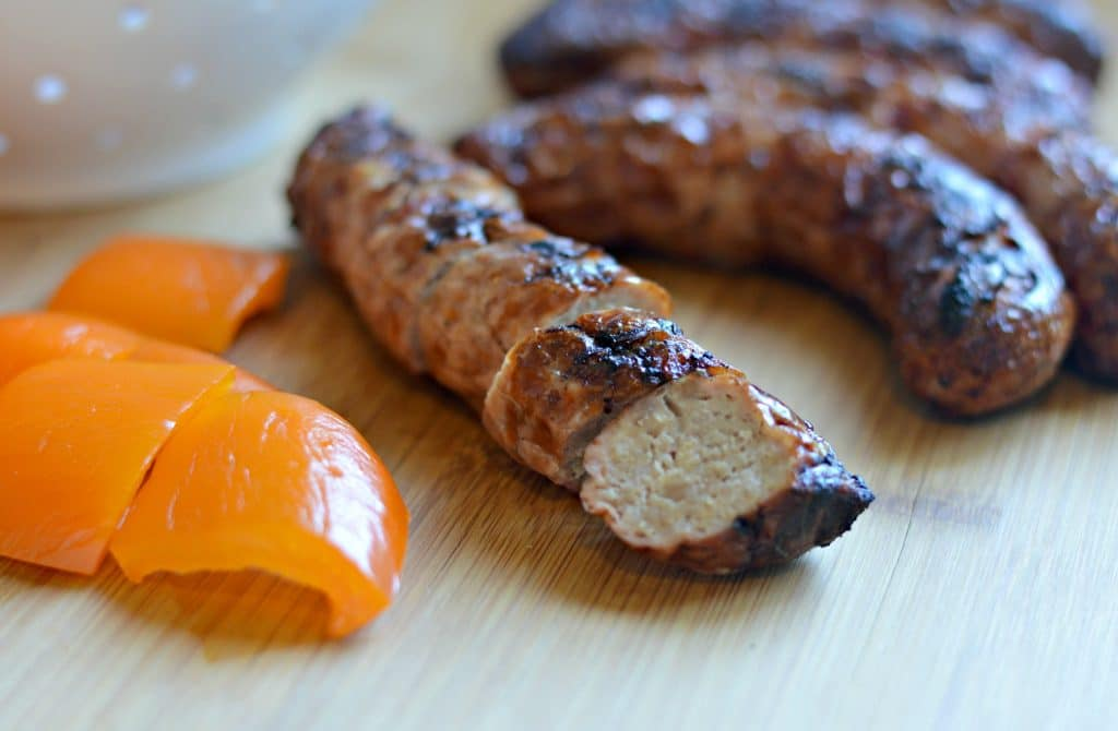 Backyard BBQ Ideas - Turkey Brats on cutting board