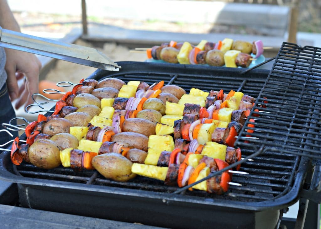 Turkey Brat and Potato Kabobs - Backyard BBQ Ideas