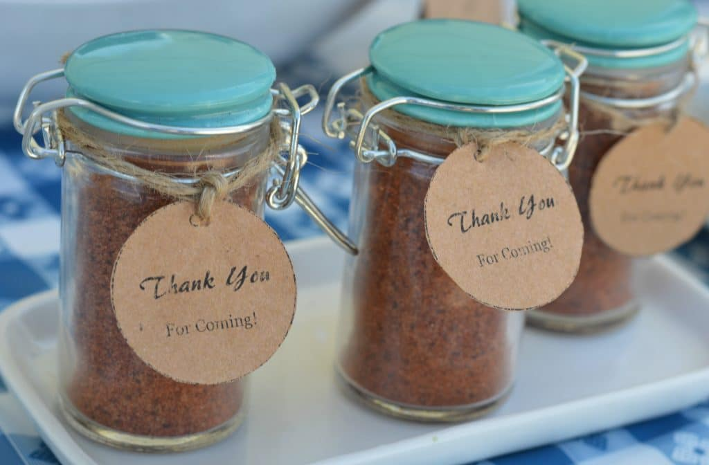 Backyard BBQ Ideas - Spice shaker gifts