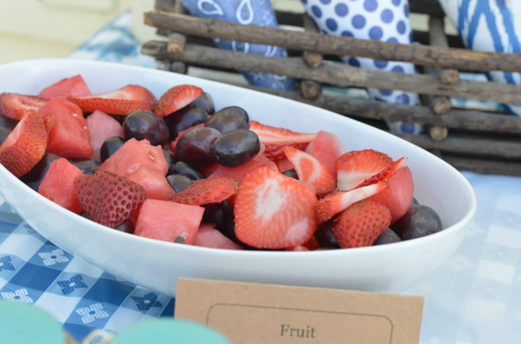 Backyard BBQ Ideas - fruit salad