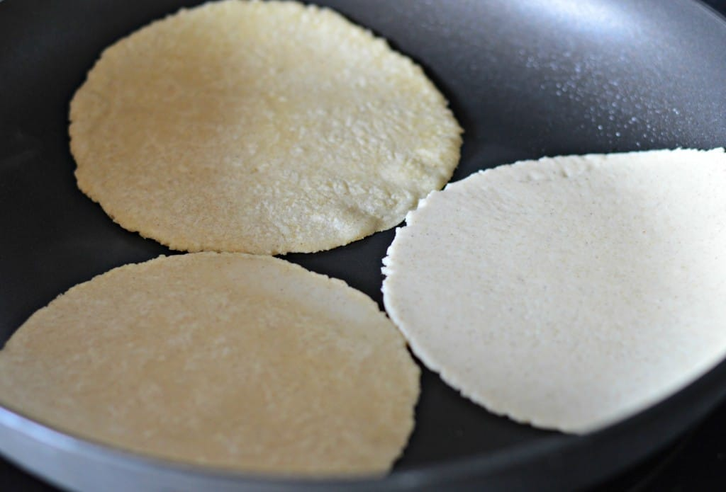 Fresh homemade tortillas for Mexican Food