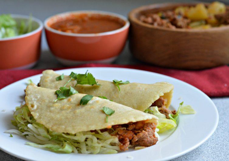 Chorizo and Potato Tacos (with homemade tortillas) - My Latina Table