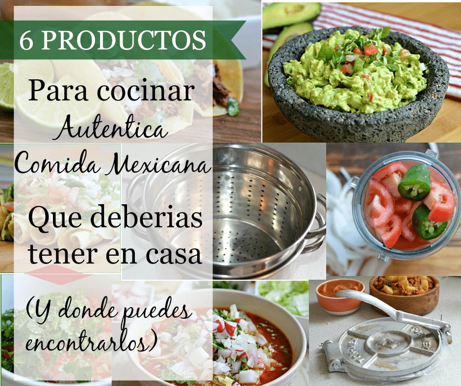 utensilios mexicanos espanol