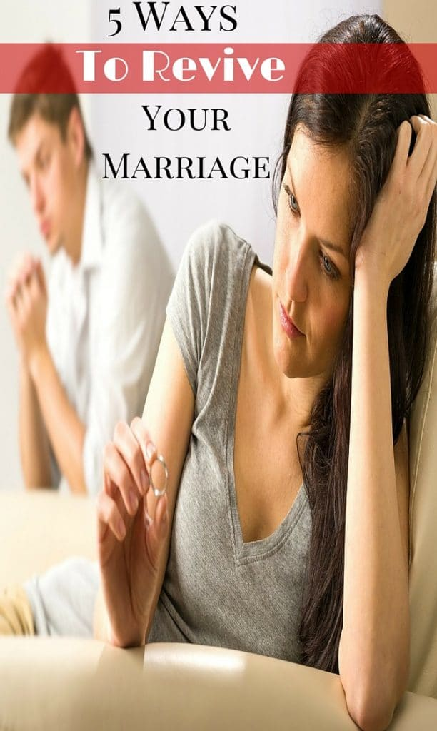 Marriage is not easy. If you feel like your's is going through a rough patch, check out these 5 tips to revive your marriage.