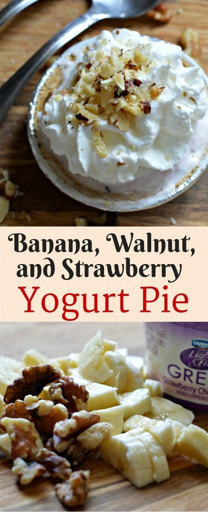 This yogurt pie is so easy to make, and is the perfect solution for those nights when you need a quick dessert option.