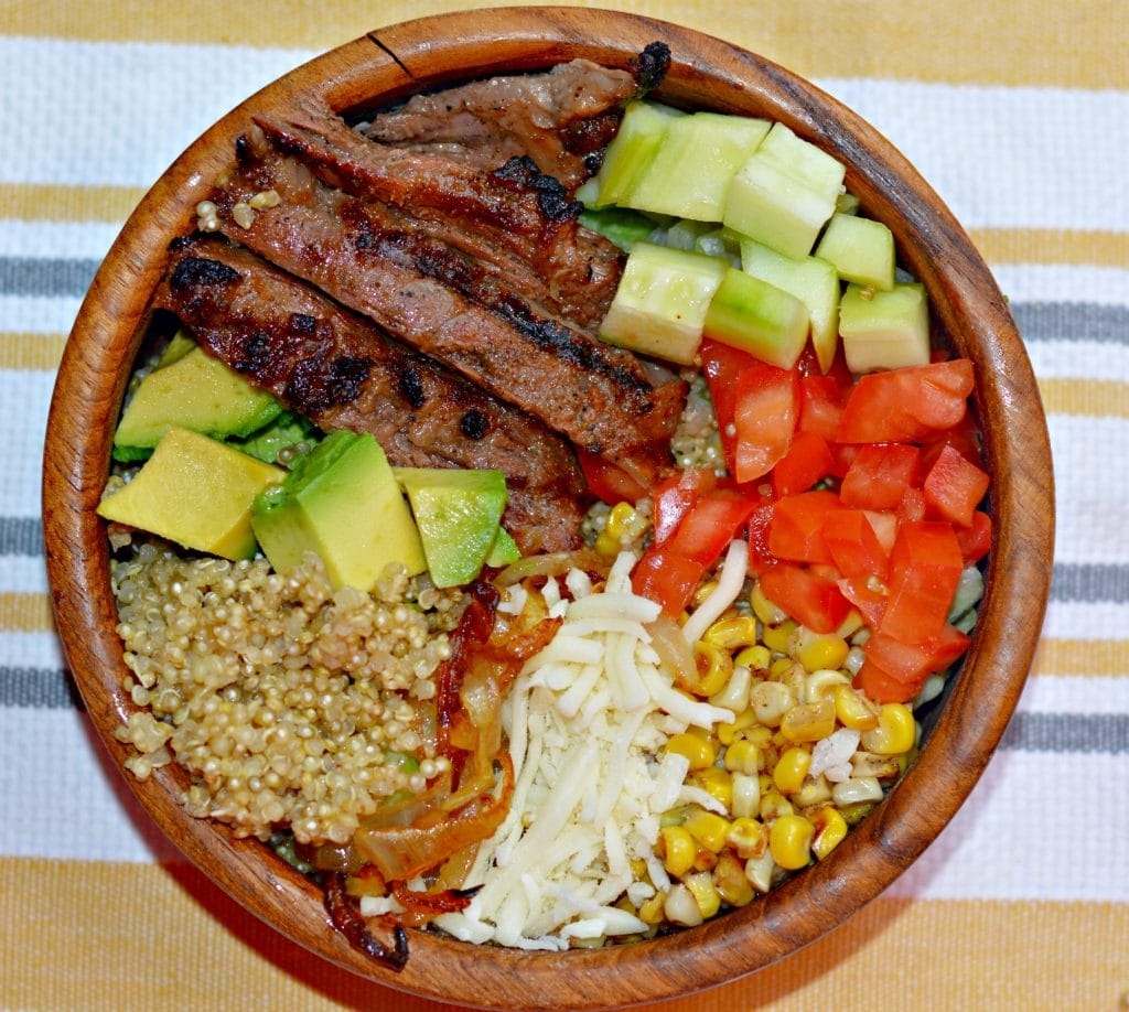 Carne Asada Quinoa Bowl without dressing