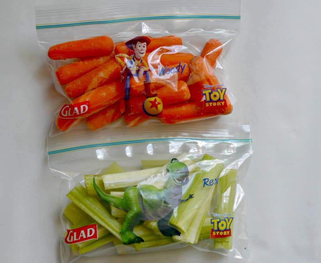 Carrots and Celery in Bags