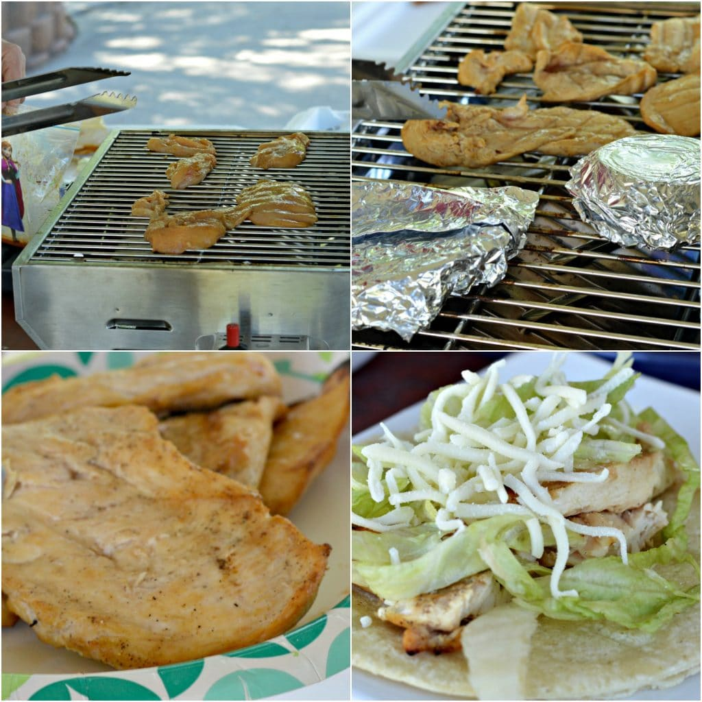Grilled Chicken Tacos Collage
