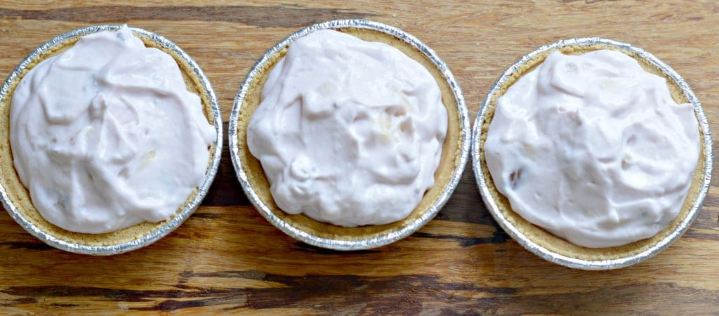 Yogurt Pies, ready to chill