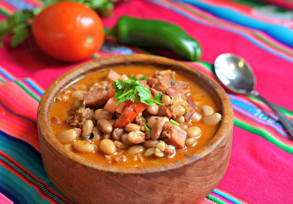 Mexican Charro Beans Recipe - these are delicious and a great side dish for Mexican foods.