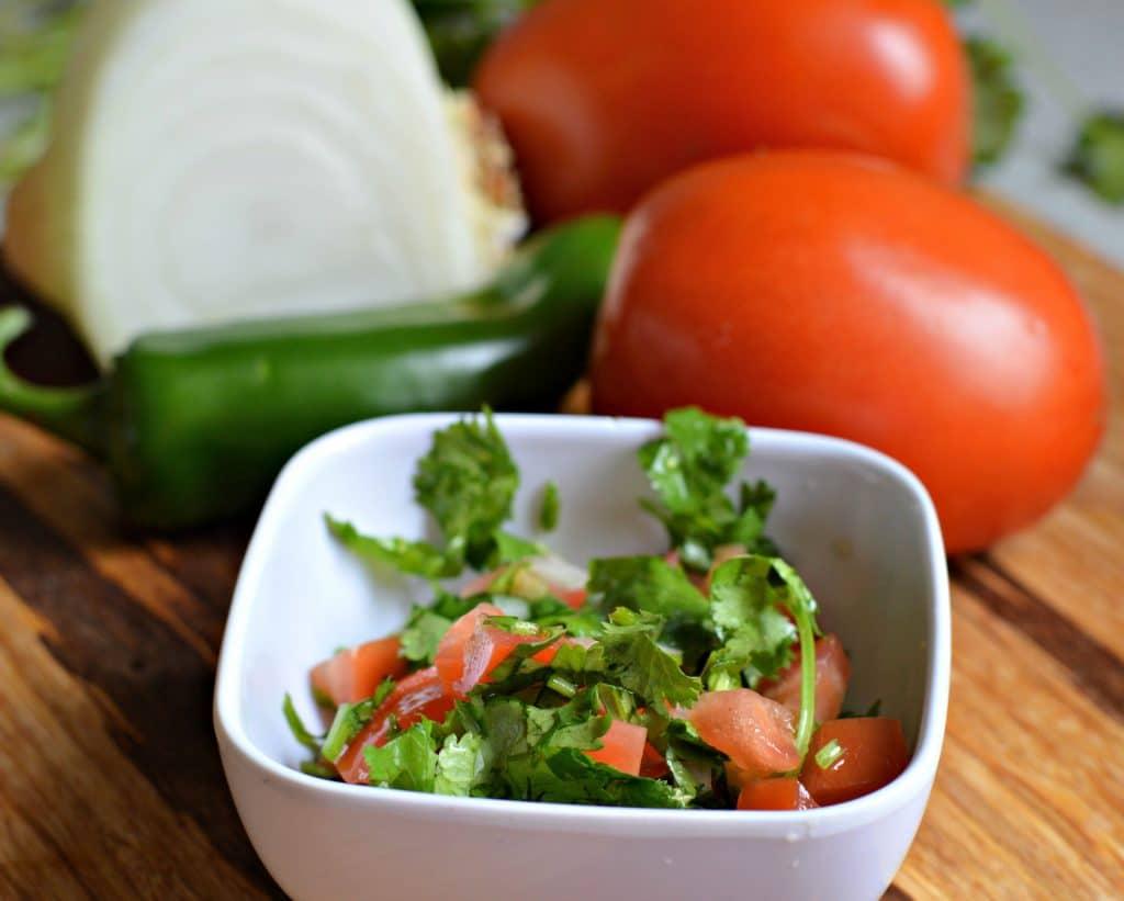 charro beans tomatoes, cilantro, onions