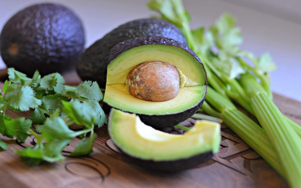 Avocado and bacon egg salad avocado