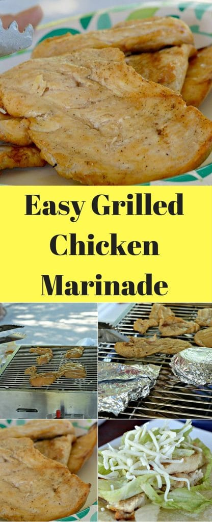 This marinade for grilled chicken is easy to make, and will add amazing flavor to your grilled chicken. You will love how simple this is!