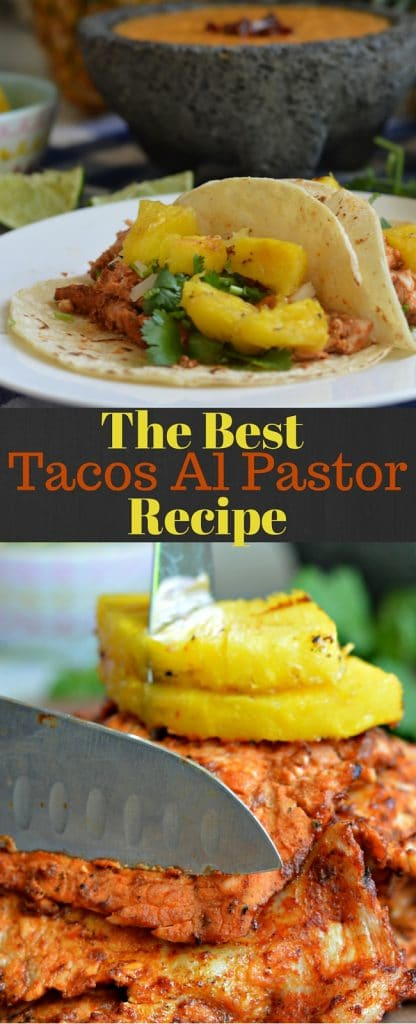If you are looking for tacos al pastor, this the right recipe for you! It may not be cooked in the traditional way, but it definitely has the traditional flavor!