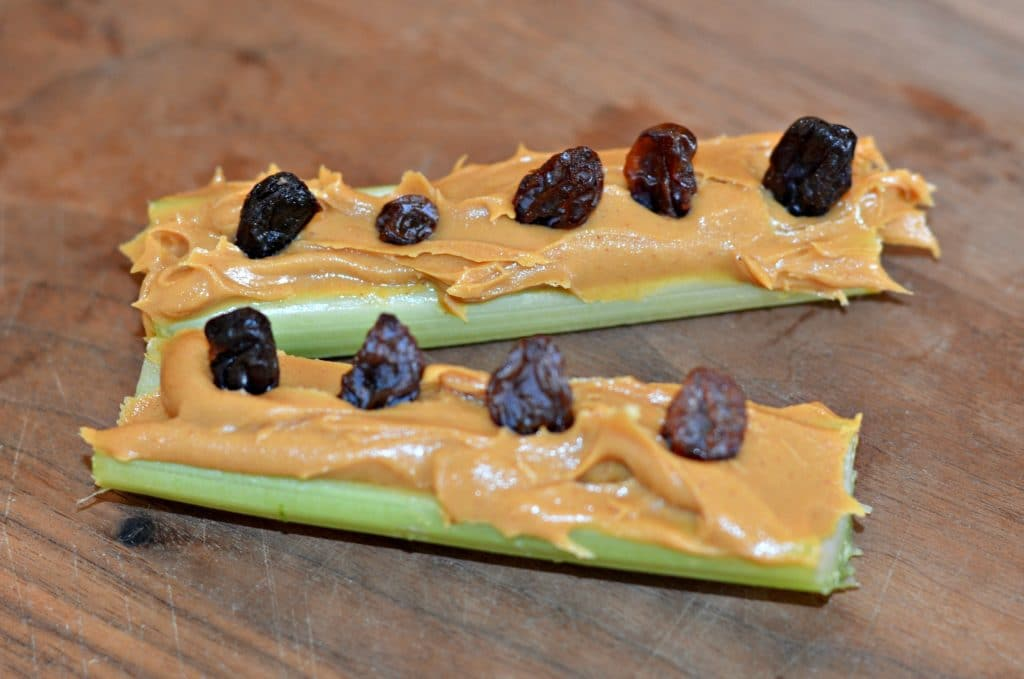 Ants on a Log after school snack