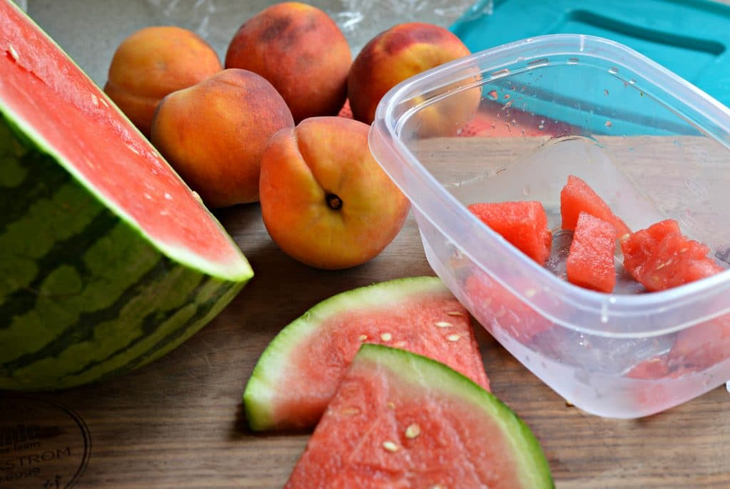 Watermelon and Peaches