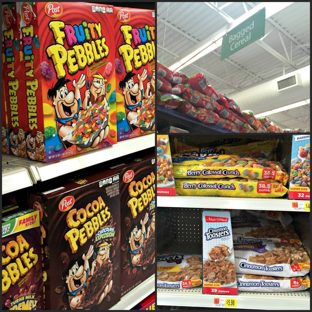 Post Cereals Store Picture at Walmart