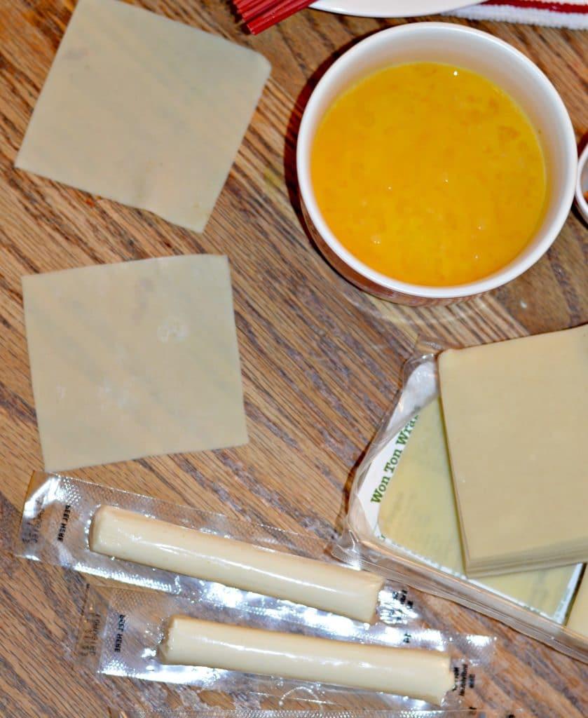 Wonton Mozzarella Sticks Ingredients