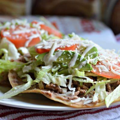 Traditional Mexican Tostadas