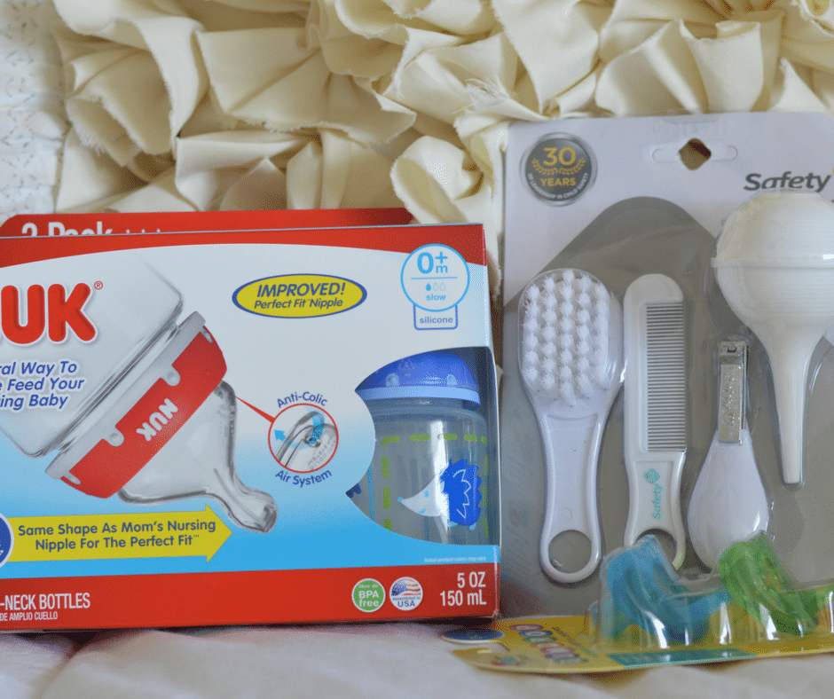 baby bottles and hair kit