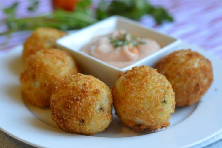 Extra Crispy Chorizo Potato Balls