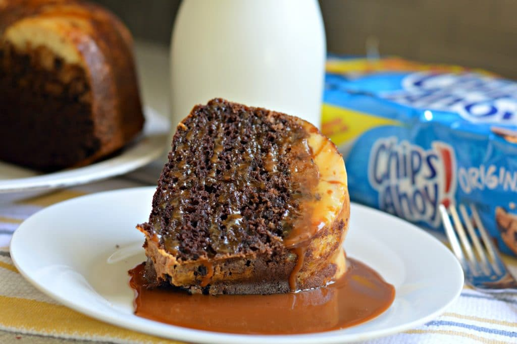 Chips Ahoy! Chocolate Flan Cake