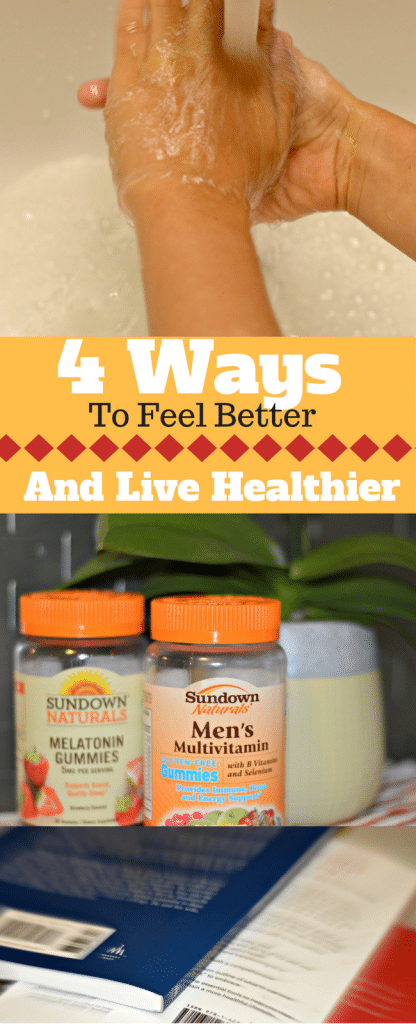 #ad Here are 4 ways to feel better and live healthier including @sundownnaturals found at @walmart #goodnessgiveaway #sharethegoodness #pmedia
