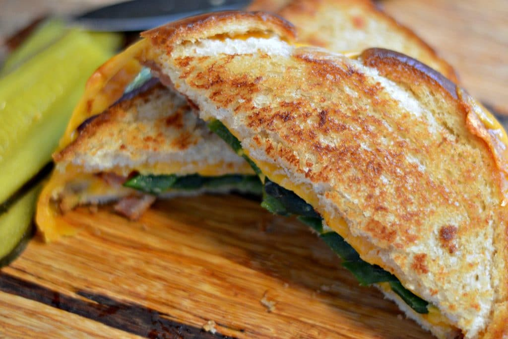 Bacon Poblano and Cheddar Grilled Cheese done 2