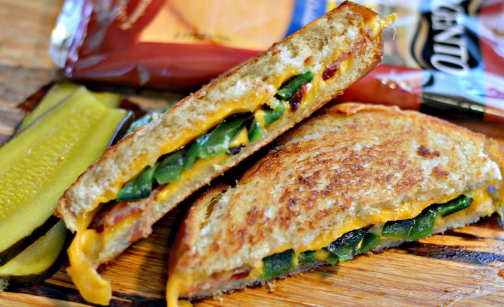 Bacon Poblano and Cheddar Grilled Cheese
