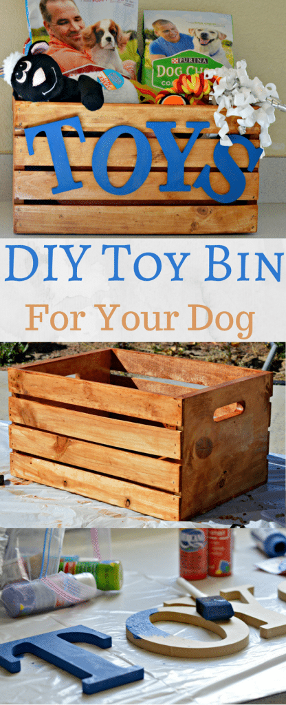 This DIY Toy Bin for your Dog is so easy to make. Check out this post for a fun and easy tutorial!