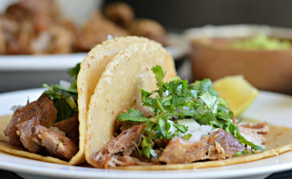 This slow cooker pork carnitas recipes is perfect for making some delicious tacos that your guests will keep coming back for!