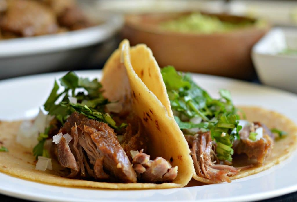 Slow Cook Pork Carnitas Tacos
